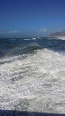 Arcoiris también en el mar...