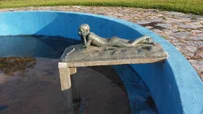Estatua en La Guira