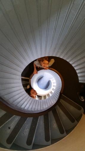 Escaleras del faro de San Diego
